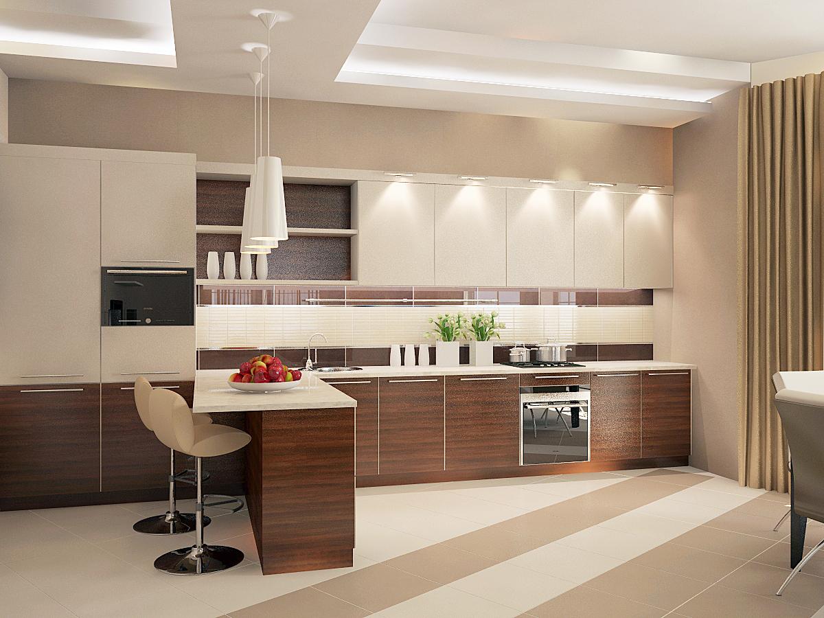 Дизайн коричневых кухонь